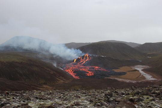 Eruption in Geldingardal
